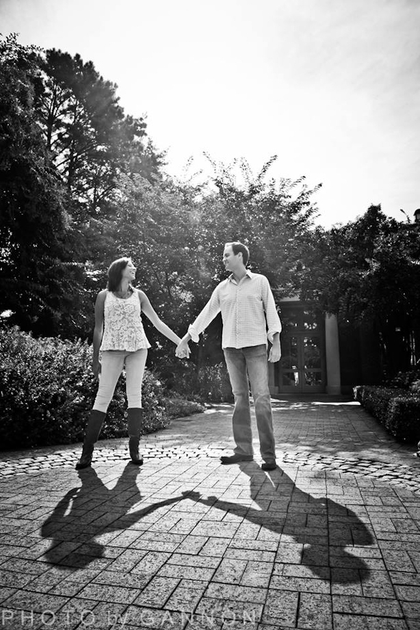 garden engagement photos atlanta