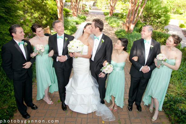 Tara Jason Married In Atlanta Botanical Gardens Photo by Gannon